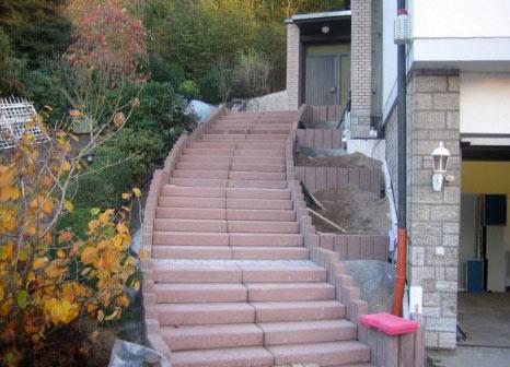 blockstufen, stufen, treppen, gehwege, weg, albert bau,