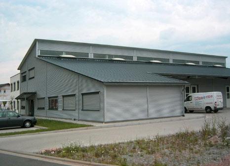 gewerbehalle, halle, bau, produktion, gewerbebau