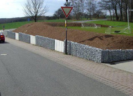 hangsicherung, Mauer, Natursteinmauer,