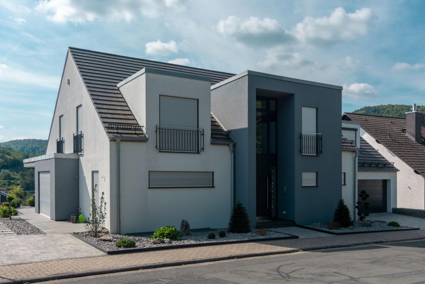 Einfamilienhaus, Satteldach, Modern, bauen, planen, bau