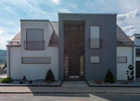 moderne bauweise, einfamilienhaus, schlüsselfertig