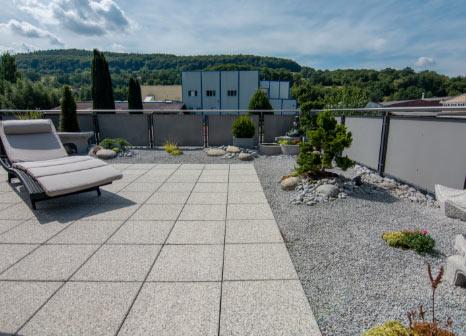 Terrasse, Garten, Pflastern, Pflastersteine, anlegen, Dachterrasse, bauen,