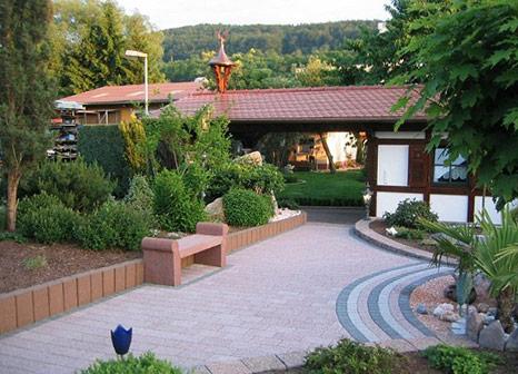 Gartenanlage, Pflastern, Pflastersteine, Gehweg, Hof, Hofeinfahrt, albert bau