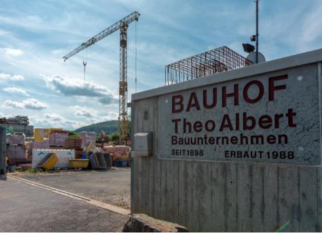 Theo Albert Bau, Bauunternehmen, Bau, Bauen, Baumaschinen, verleih, bauhof,